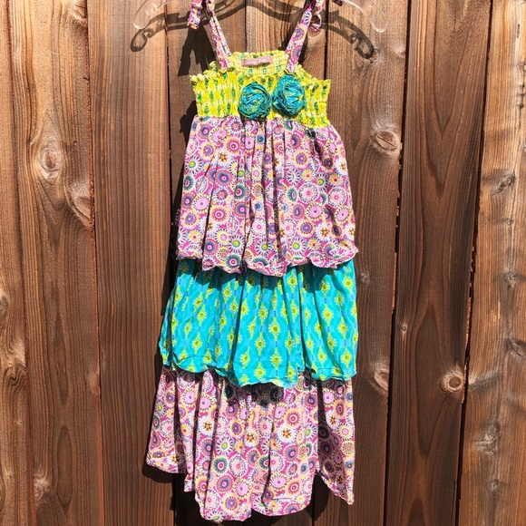 Girls JELLY THE PUG boutique dress 2T 3T 5 NWT brown pink ruffles into the woods